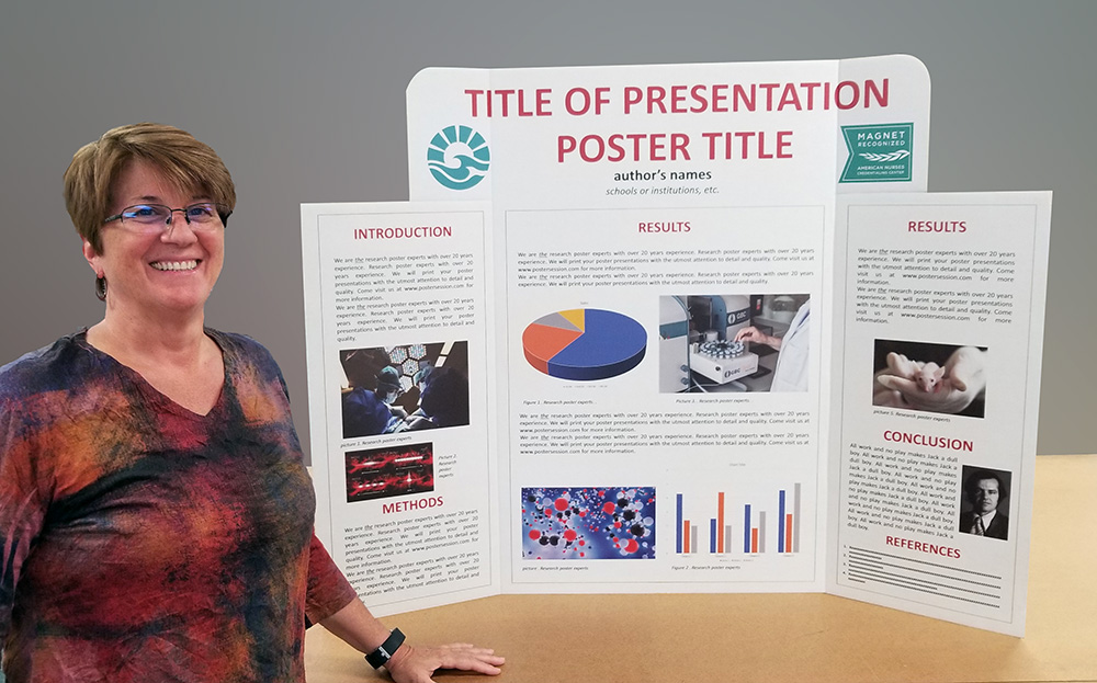 tri fold presentation displays