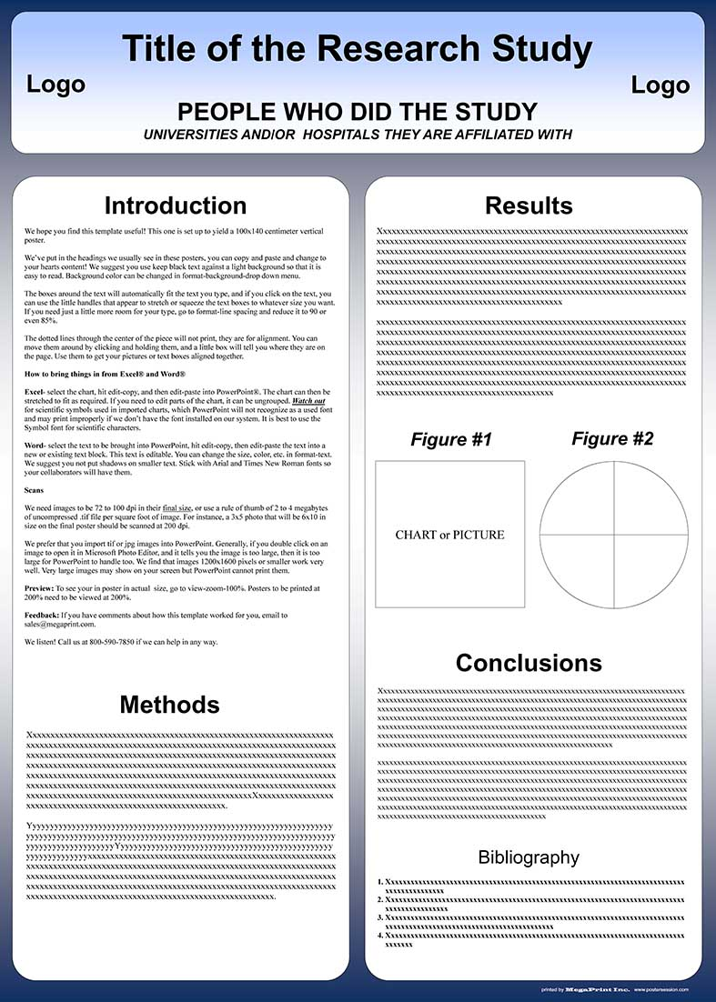 Free powerpoint scientific research poster templates for printing 100x140 cm poster presentation template toneelgroepblik Images