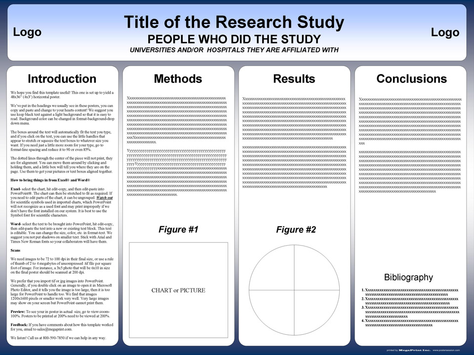 Research project poster template toneelgroepblik