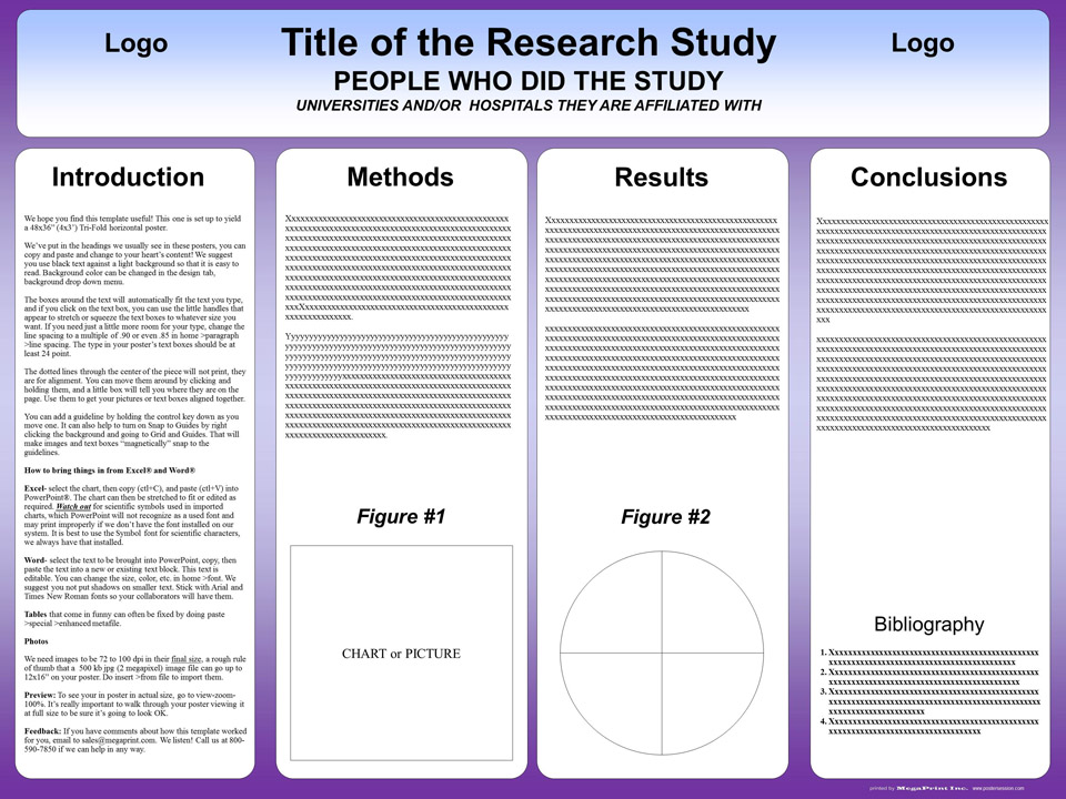 Free powerpoint scientific research poster templates for for How to make a poster template in powerpoint