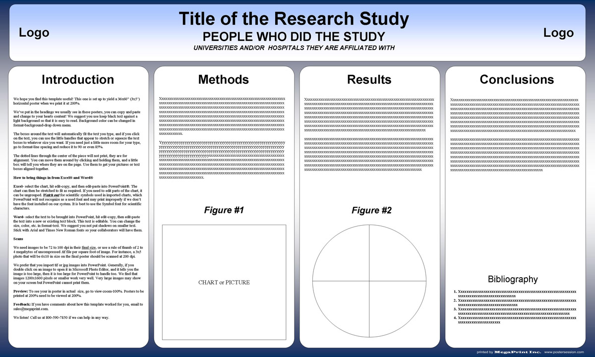 Free powerpoint scientific research poster templates for printing 36x48 tri fold poster template toneelgroepblik Images