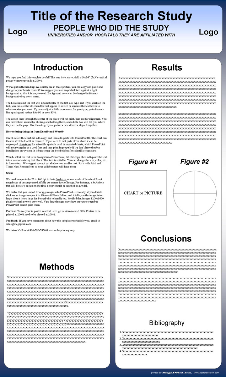 Poster 60 x 80 design - 36x60 Research Poster Template