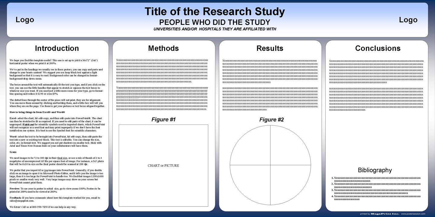 36x72 academic poster template