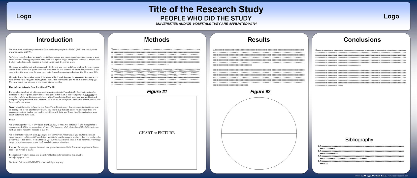 Free Special Size Powerpoint Scientific Research Poster