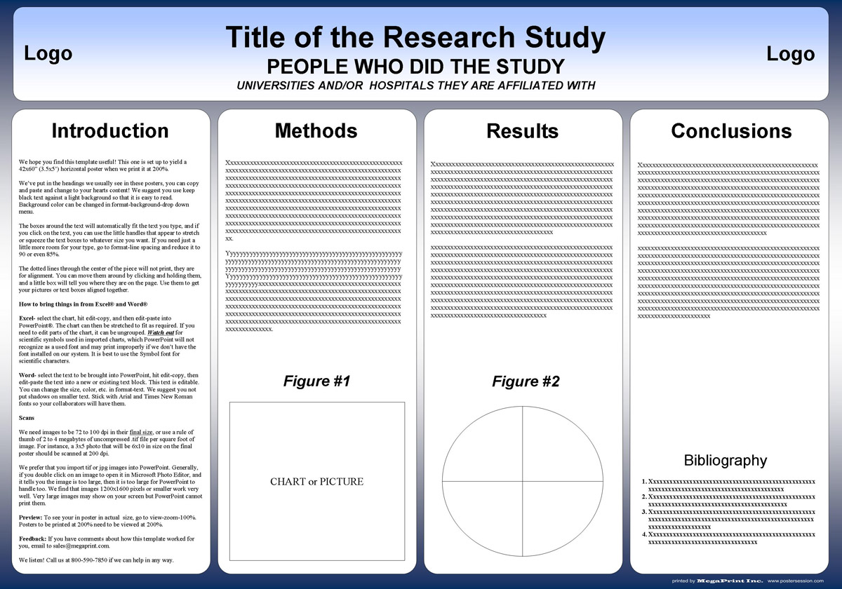 42x60 research poster template TKzRx0tn