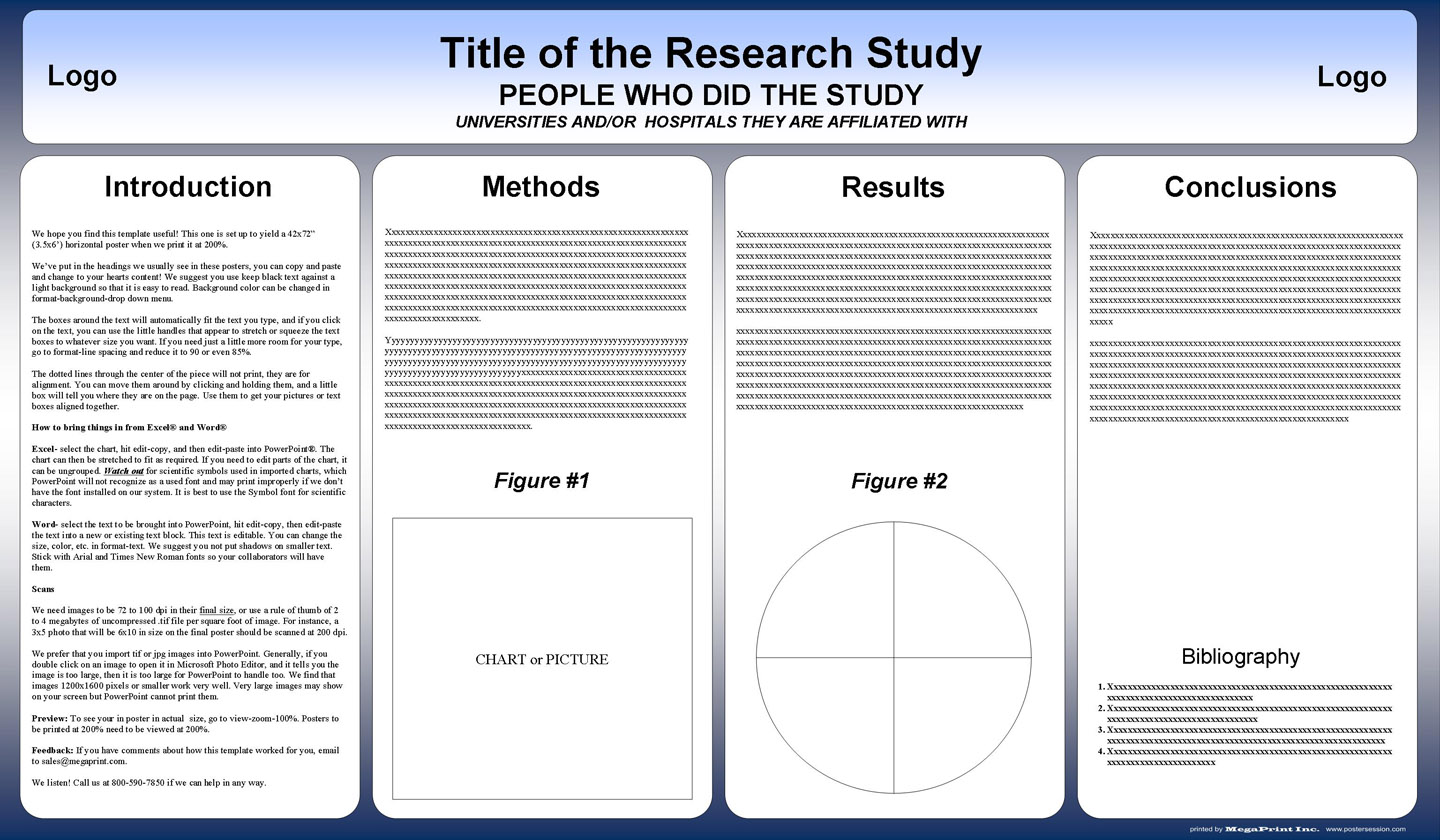Free powerpoint scientific research poster templates for printing 42x72 academic poster template download toneelgroepblik Images