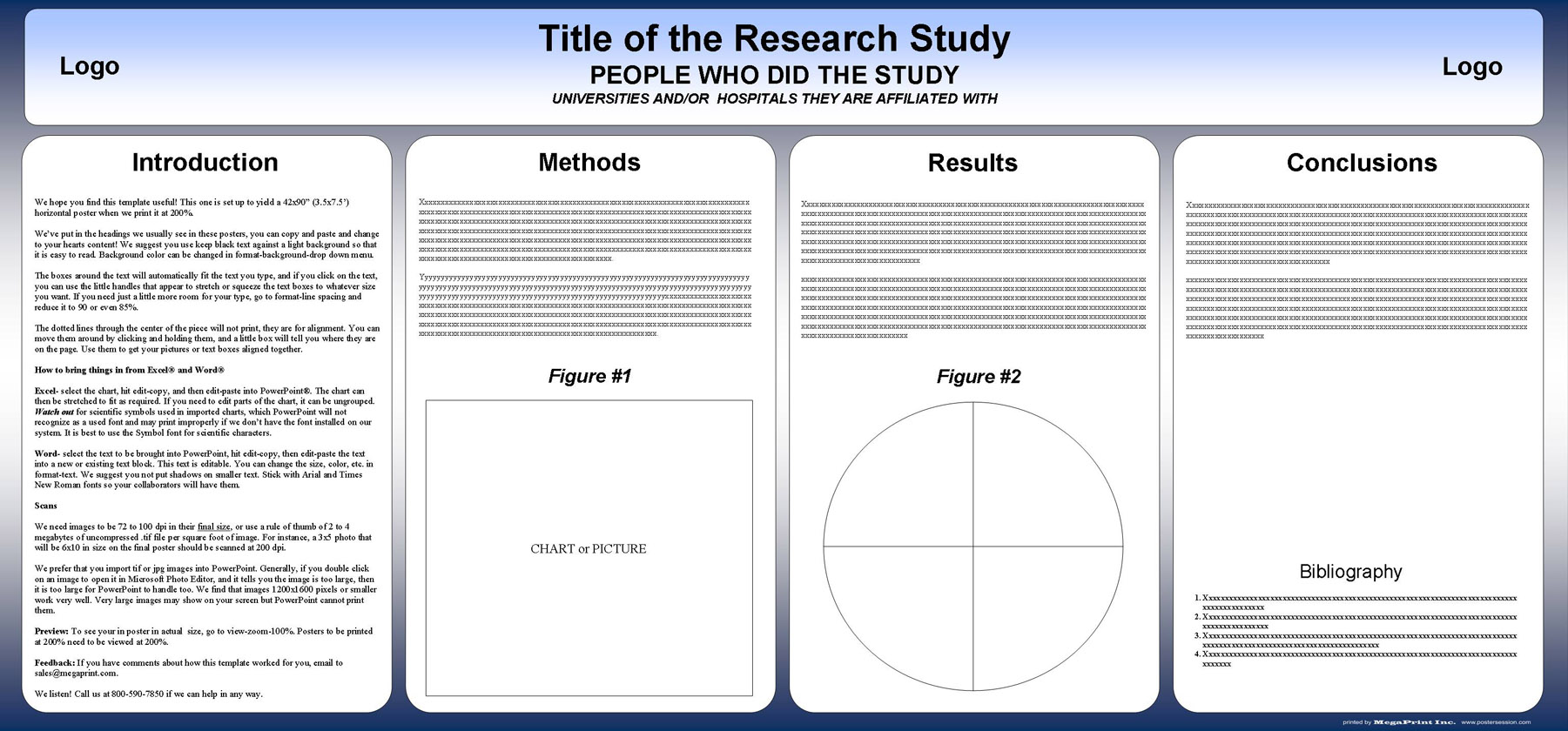 Free powerpoint scientific research poster templates for printing 42x90 academic poster template toneelgroepblik Images