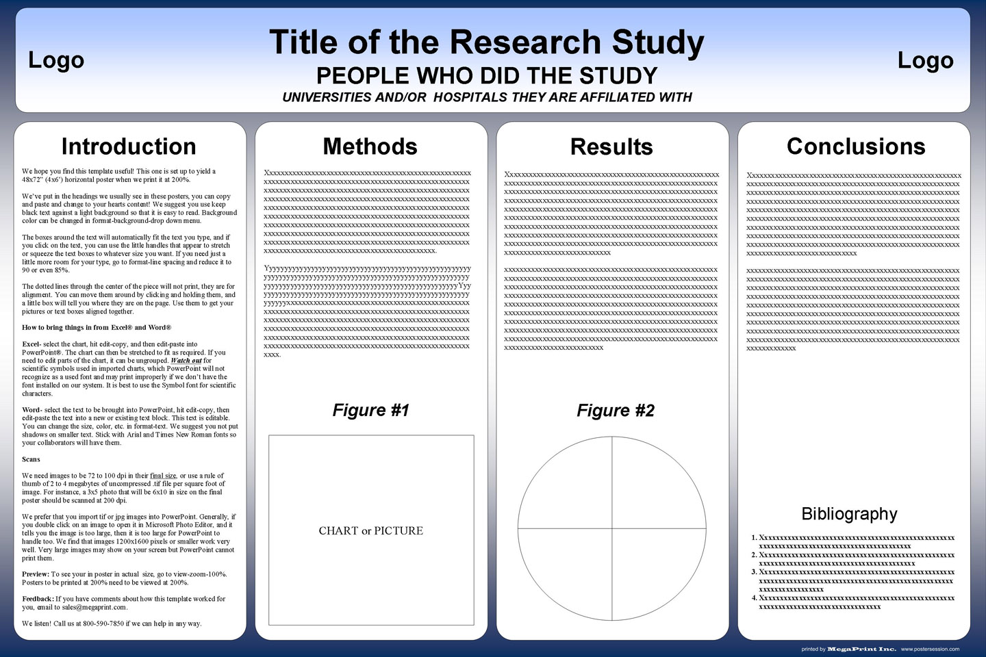 free powerpoint scientific research poster templates for printing, Presentation templates