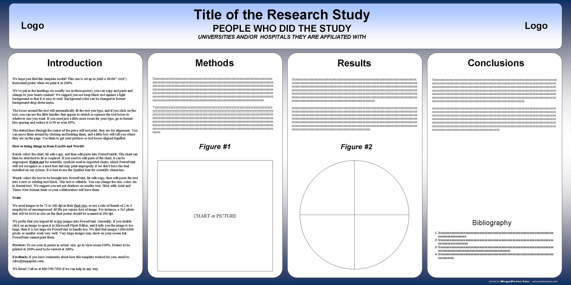 Free powerpoint scientific research poster templates for printing 48x96 academic poster template download toneelgroepblik Images
